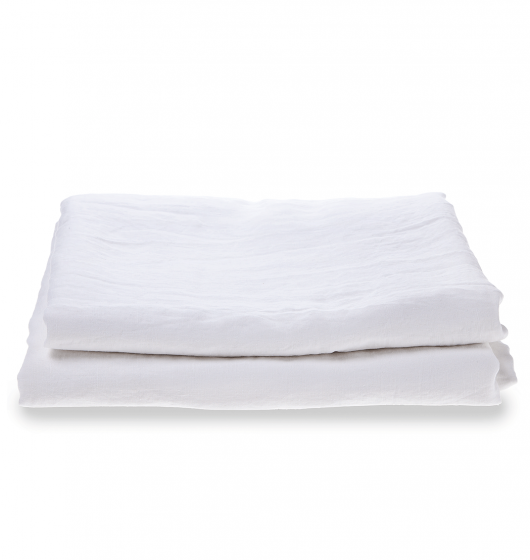 Piglet | Natural French Flax Linen Fitted Sheet   White | Myza