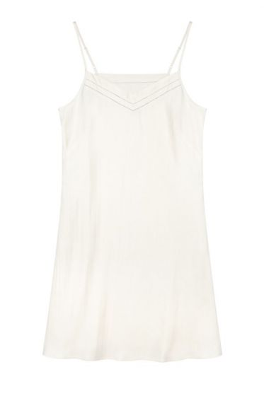 729574d126100 The Ethical Silk Company | Mulberry Silk Slip/Nightdress - Ivory (Natural)  | myza