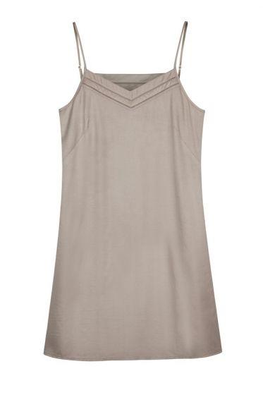 d925f91a59b36 The Ethical Silk Company | Mulberry Silk Slip/Nightdress - Lunar Grey | myza