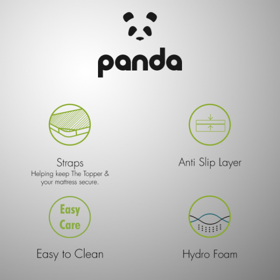 Panda Memory Foam Bamboo Mattress Topper single