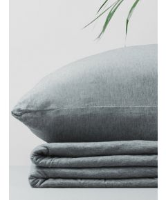 Organic Cotton Jersey Duvet Cover - Grey Melange