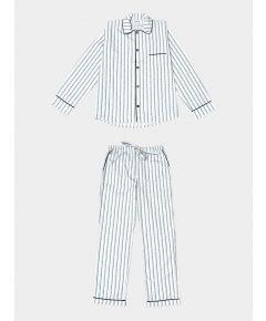 Mens Palmarola Cotton Pyjama Trouser Set - Blue
