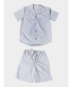 Mens Palmarola Cotton Pyjama Short Set - Classic Grey