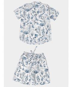 Mens Circe's Garden Cotton Pyjama Short Set - Grey