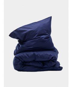 400 Thread Count Egyptian Cotton Sateen Duvet Set - Light Blue - Navy