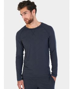 Mens Nattwell® Sleep Tech Long Sleeve Top - Dark Grey
