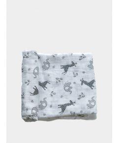 Organic Baby Swaddle Blanket - Animal
