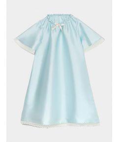 Girls Antonia Silk Nightdress - Blue