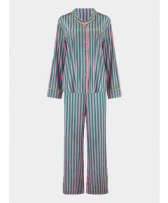 Women's Aurelie Flamingo Caterpillar Stripe Silk Pyjama Trouser - Set/Separate