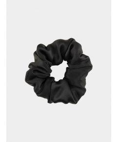 Silk Scrunchie - Solid Black