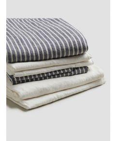 Linen Bedtime Bundle - Midnight Stripe
