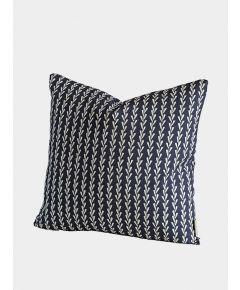 Rye Grass Cushion, India Ink Blue