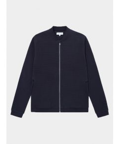 Bomber Cotton Jacket - Navy