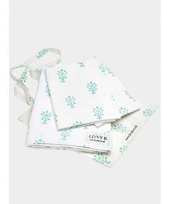 200 Thread Count Cotton Bed Set - Aqua Booti