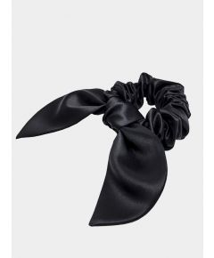 Brigitte Silk Scrunchie - Black
