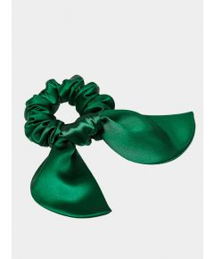 Brigitte Silk Scrunchie - Green