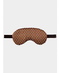 Silk Sleep Mask - Brown Rhombus