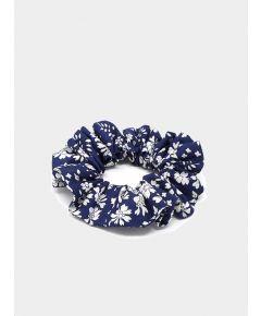 Liberty Print Hair Scrunchie - Capel Blue