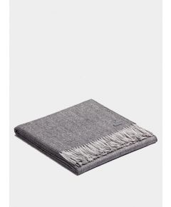 Plaid Exclusive Fishbone Blanket - Charcoal-Silver
