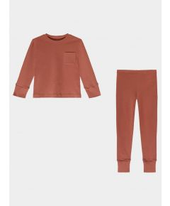 Children's Organic Pima Cotton Pyjamas - Rust