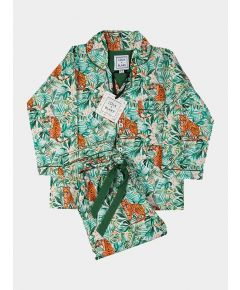 Children's Cotton Pyjama Trouser Set - Jungle