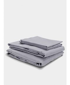 300 Thread Count Egyptian Cotton Percale Bed Set - Light Grey
