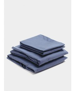 300 Thread Count Egyptian Cotton Percale Bed Set - Navy
