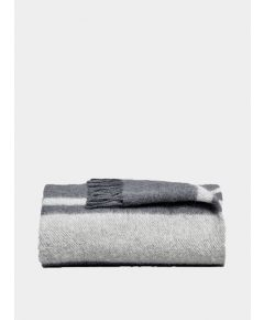 Danan Wool Blanket - Midnight & Stone