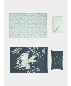 Organic Cotton Reversible Duvet Set - Giant Pegasus & Dayland Kites