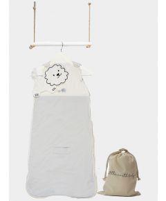 Embroidered Safari Sleeping Bag - Dawn Grey Elephant