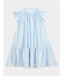 Girls Evelyn Nightdress - Blue Polka Dots
