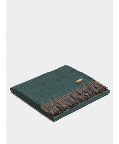 Plaid Exclusive Fishbone Blanket - Deep Green-Gray