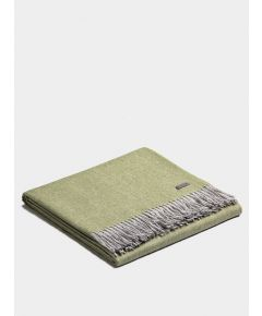 Plaid Exclusive Fishbone Blanket - Sage-Silver