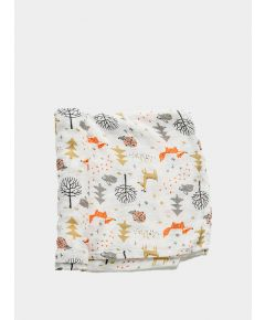 Organic Baby Swaddle Blanket - Forest