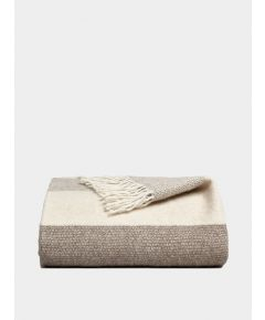 Genjin Striped Cashmere Blanket - Stone