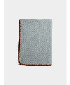 Arkan Geometric Weave Cotton Blanket - Teal