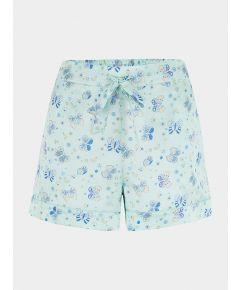 Women's Silk Pyjama Short - Rosie Glacier Butterfly