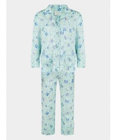 Girls Silk Pyjama Trouser Set - Amelie Glacier Butterfly