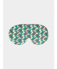Mulberry Silk Sleep Mask & Bag - Teal/Grey