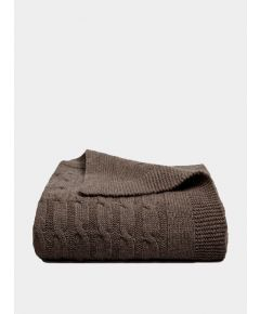 Oshin Cashmere Cable Knit Blanket - Oak