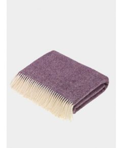 Herringbone Wool Throw - Lavender