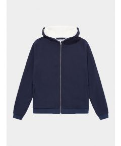 Towel-Lined Hoody - Navy