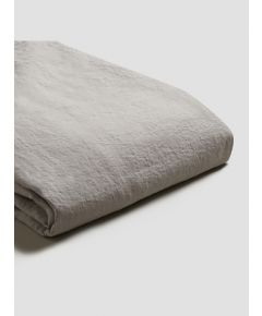 Natural French Flax Linen Duvet Cover - Dove Grey