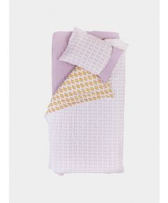 Organic Cotton Plain-Dyed Fitted Single Sheet - Lilac