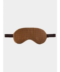 Silk Sleep Mask - Brown Dots