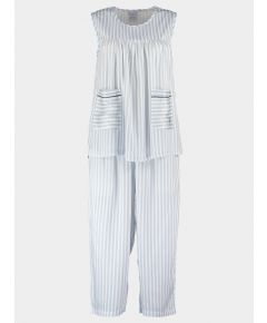 Organic Bamboo Pyjama Midi Set - Simple Stripe