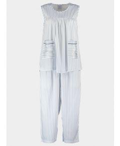 Organic Bamboo Pyjama Midi Set - Simple Stripe