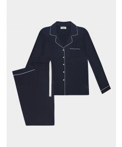 Women's Isla Bamboo Viscose Pyjama Trouser Set - Navy