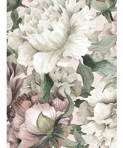 Blush Floral Mural Wallpaper
