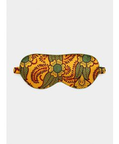 Silk Eye Mask - Orange Henna